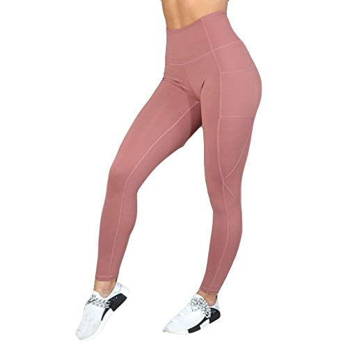 13e2f4f3ca Workout Leggings for Women - Power Flex Solid Athletic Yoga Pants Sports  Gym Running Tights with