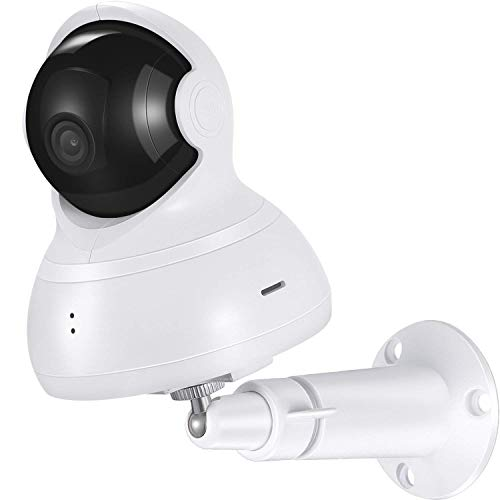 Boao Wall Mount for Yi Dome Camera Metal Mount Ceiling Mount Adjustable Indoor/Outdoor Mounting Bracket Holder Accessories Kit for Yi Camera Yi Cloud Home Camera (White)