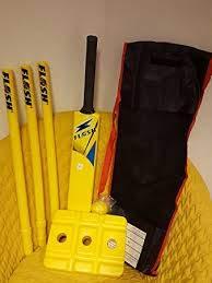 Cricket loco juego de Cricket Kit de tamaño 4–amarillo + + limpieza + + + Affordable Sports