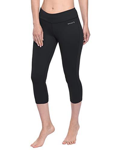 Baleaf Women's Yoga Capri Pants Workout Running Legging Inner Pocket