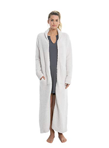 - Barefoot Dreams CozyChic Full Zip-Up Robe, Long Bath Robe for Women, Soft, Plush