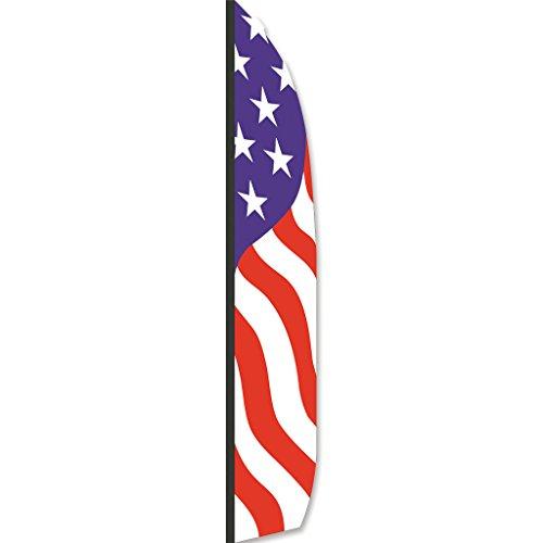 - Premier Kites 23719 Wind Garden Ripstop Nylon Feather Banner, Patriotic, 16-Feet