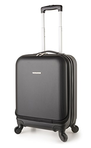 Bag Boston Black - TravelCross Boston 21'' Carry On Lightweight Hardshell Spinner Luggage - Black