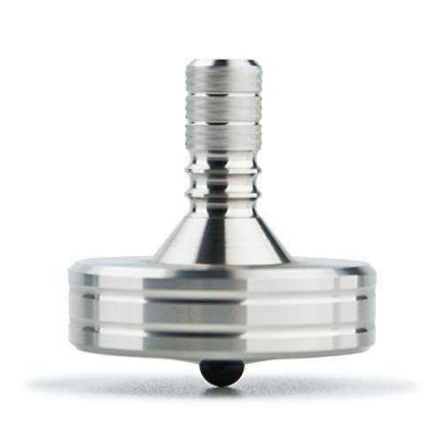 DjuiinoStar High Performance Spinning Top: Long Lasting (Best Record 11:05), CNC Machined from Solid Stainless Steel, Great Time Killer, EDC Desktop Toy, for Serious Players
