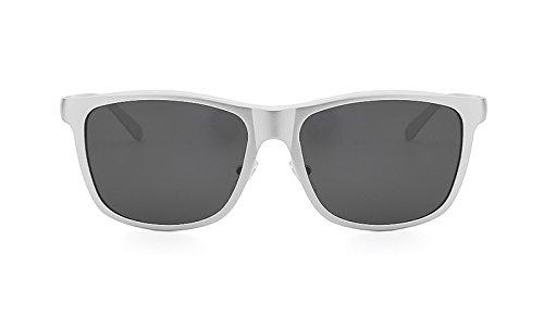 Yao de marca polarizadas Soleil Diseñador aluminio Homme la la los Gafas Hombre vendimia hombres de sol de Gafas Lunette White de Sombras de UV400 rtqrwTfx