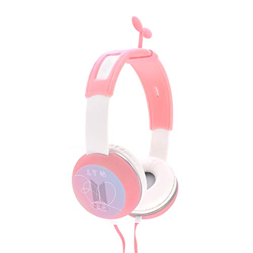(Fanstown BTS Bangtan Boys Kpop Headphone Heatset Earphone Hi-Fi Stereo Headphone Pink Little Straw Shape Decor Love Yourself 結 Answer with Pendant)