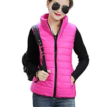 6b1234690a2 Autumn Winter Coat Women Ladies Gilet Colete Feminino  Amazon.in   Electronics