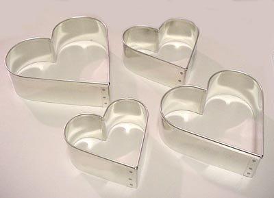 """UPC 802985555038, Heart-Shape Cookie Cutter, Heavy Duty Tinned Steel - 4-1/8"""""""