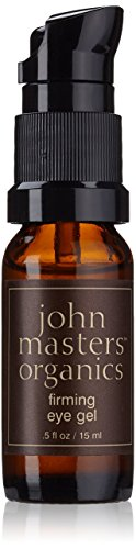 John Masters Organics – Firming Eye Gel – Natural Skin Repair Moisturizer for Puffiness, Wrinkles, Anti Aging Fine Lines Around the Eyes – 0.5 oz