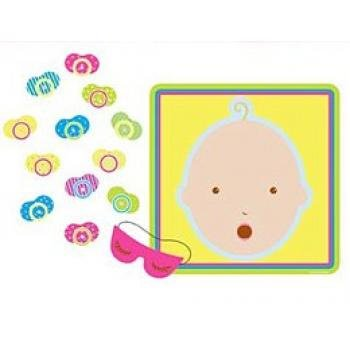 Beistle 66675 Pin The Pacifier Baby Shower Game 17quot x 185quot 1 piece