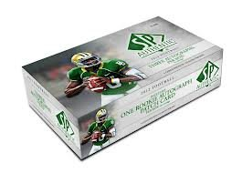 2012 Upper Deck SP Authentic Football HOBBY box (24 pk, players depicted in college uniforms)