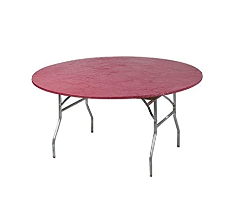 Red Bundle of 5 Kwik-Covers 72 Round Fitted Plastic Table Covers