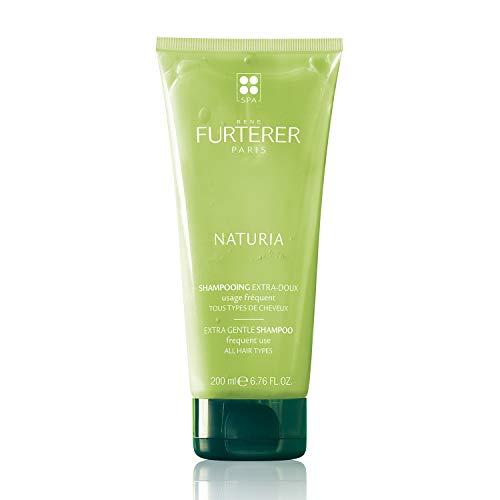 Rene Furterer NATURIA Extra Gentle Shampoo, Daily Use, Peppermint & Basil Oil, All Hair Types, 6.7 oz.