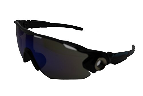 Black Finecy de Frame para Gafas Mirrored In Lens With Blue hombre sol YZSY4nq