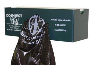 Polyethylene Dispenser - DOGIPOT 1008-1 Single Bag Roll Dispenser for Inside Use Only, Polyethylene, Forest Green
