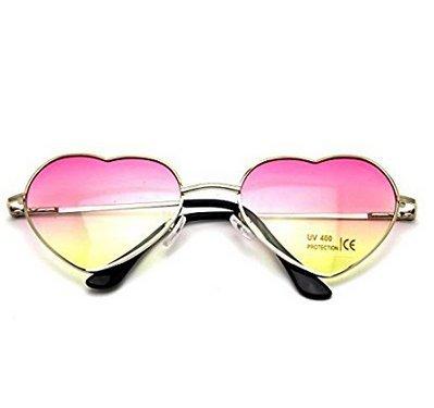 Gafas 8871 Sol Unidad Forma de de Corazón 1 de Retro Metal LK Unisex con 5adqa1w