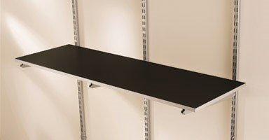 Rubbermaid Multi Purpose Shelf - Rubbermaid FG5E22FTCSLRK FastTrack 4' Multi-Purpose Shelf