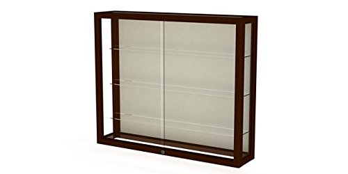 Waddell 890M-PB-C Heirloom 36 x 30 x 8 in. Wall Case with Hardwood 3 Shelves44; Plaque Back - Cordovan