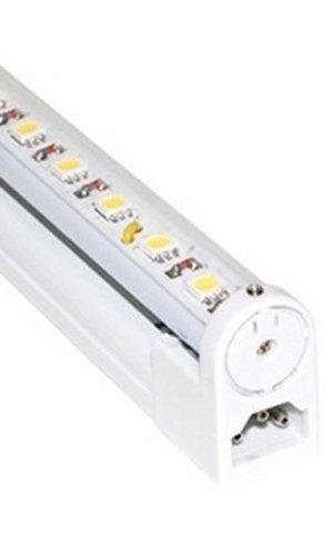 Jesco Lighting S201-12/40-WH LED Sleek Plus 12 Adjustable Linkable Cove Display Light Strip, 4000K Color, White Finish by Jesco Lighting Group