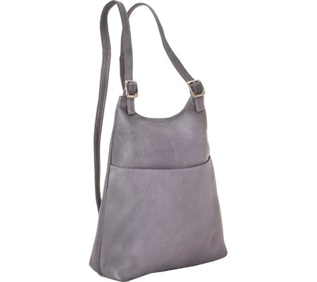 le-donne-leather-womens-sling-backpack-purse-gray