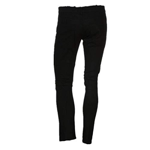 Jeans Posizionati Fit Pieghevoli Non Skinny Destroyed Biker Vintage Uomo Nero Chern Giovane Slim Denim Fori Pantaloni Moto TIdAqnZWw