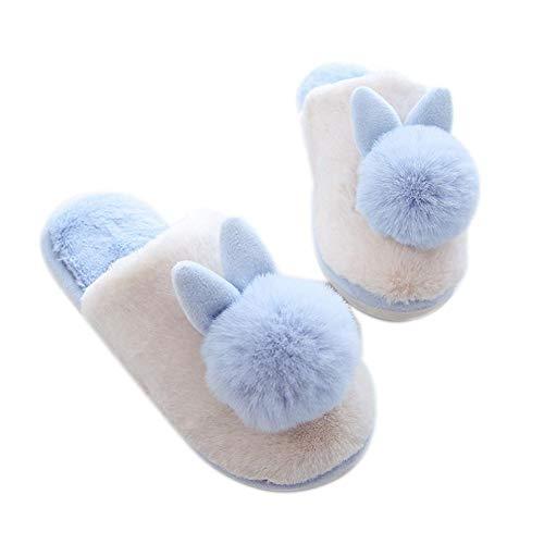 Rose Animé Peluche Automne En Coton Lapin Chaussures Maison De Pour Un Pantoufles Domestique Couple Imitation Hiver Usage Convient Dessin FFYqUB