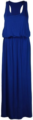 PurpleHanger Women's Toga Long Vest Maxi Dress Plus Size Royal Blue 20-22 (Toga For Women)