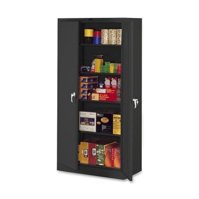 Storage Cabinets, Deluxe, 36''Wx24''Dx78''H, Black, Light Gray or Putty Color: Putty