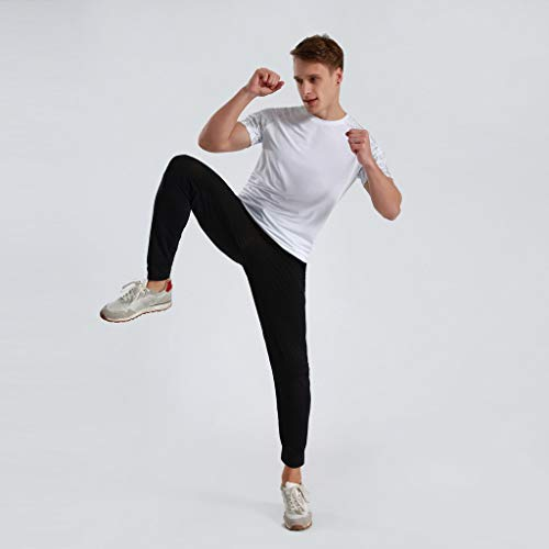 Winsummer Men's Dry Fit Athletic Shirts Short Sleeve T-Shirt Running Fitness Tee Shirts Crewneck Tshirts by Winsummer (Image #2)