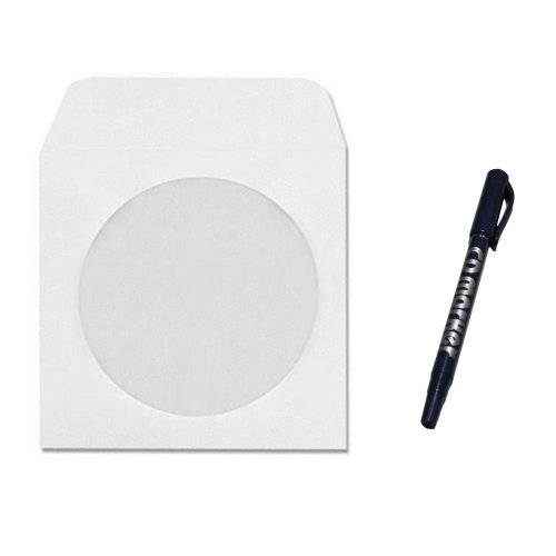 1000 cd dvd disc white paper sleeve envelope with 4 for 100 paper cd sleeves with window flap