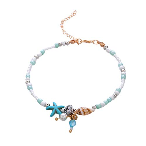 ( Euone  Valentine Clearance Sale , Seashells Beach Foot Chain Foot Chain Beads Bracelet Accessories)