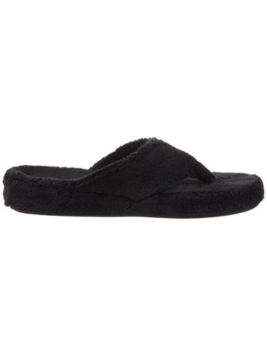 ACORN Women's New Spa Thong Slipper BLACK XXL