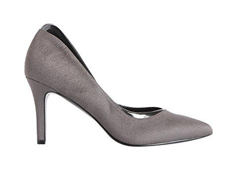 Impo TRILLIAN Dress Pump Steel Grey Suedy/Pearlized Patent 1dbKk