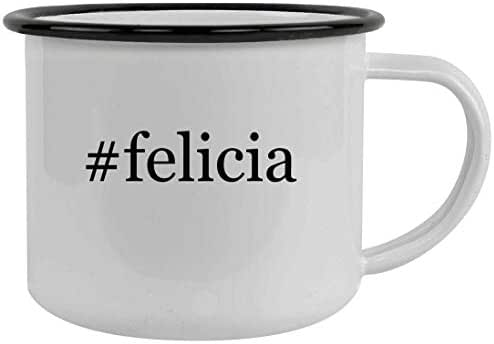 #felicia - 12oz Hashtag Stainless Steel Camping Mug, Black