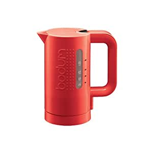 bodum bistro electric water kettle 0 5l red 11318 294 home kitchen. Black Bedroom Furniture Sets. Home Design Ideas
