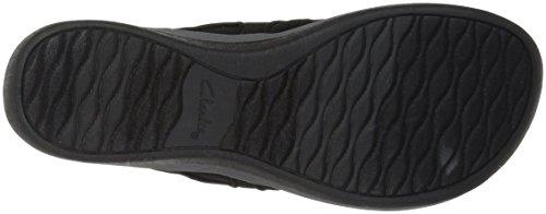 CLARKS Women's Arla Marina Flip-Flop Black Synthetic/Textile Combi cheap sale ebay UpQcJGuX