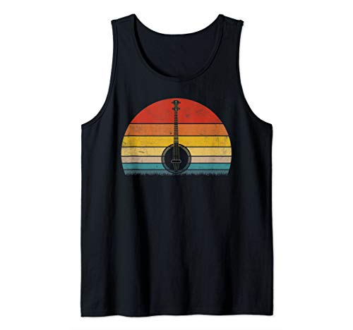 Vintage Banjo Sunset Shirt-Bluegrass Fan Banjo T-Shirt Tank Top (Bluegrass Tank)