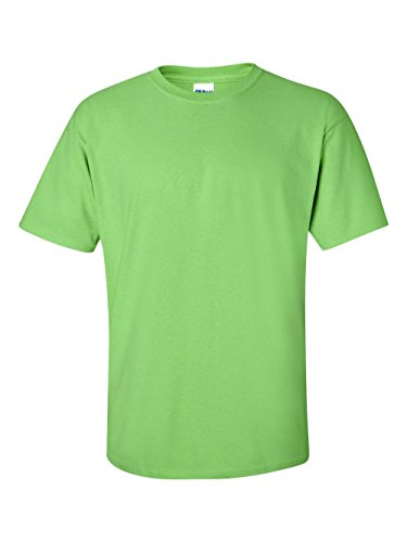 Gildan Men's Ultra Cotton Tee Extended Sizes, Lime, XX-Large