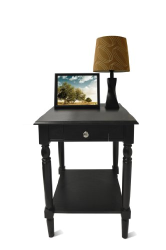Convenience Concepts French Country End Table with Drawer and Shelf, (French Country Tables)