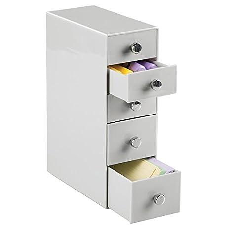 mDesign Cajonera con Cinco gavetas – Organizador de Escritorio para Material de Oficina y para la habitación Infantil – Práctica cajonera de Oficina ...