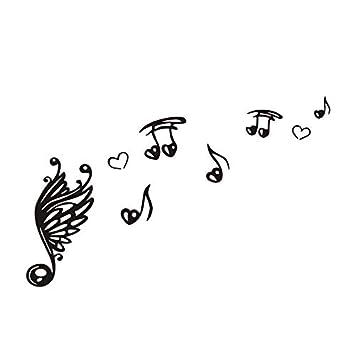Weaeo Nota De La Música Escala Clave De Sol Pegatinas De Pared ...