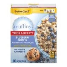 Better Oats Blueberry MMM Muffins Oatmeal, 15.1 Ounce -- 6 per case.