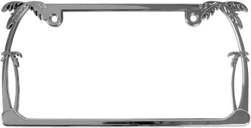 Custom Accessories 92010 Chrome Palm Tree License Plate Frame