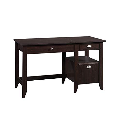 "Price comparison product image Sauder 422378 Shoal Creek Lift Top Desk L: 52.76"" x W: 23.47"" x H: 30.75"" Jamocha Wood Finish"