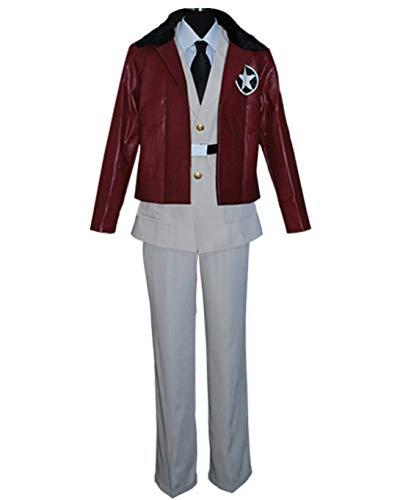 Axis Powers Hetalia America Cosplay Costume Uniform Jacket Outfit Set XL Gray (Hetalia America Costume)