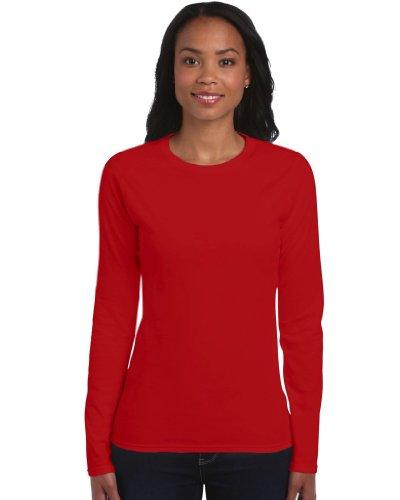 Langarm T-Shirt , Farbe:Red;Größe:M