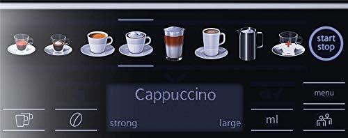 Siemens TE655203RW vrijstaande espressomachine, 1,7 l; 2 kopjes; zwart, grijs, zilver