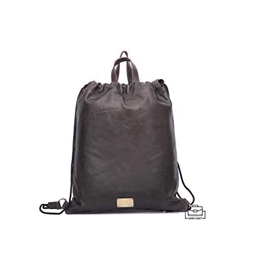 SAND CRAFT real soft cow leather drawstring backpack shoulder backpack handle briefcase shopper