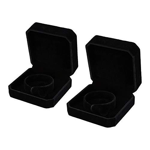 HooAMI Black Velvet Bracelet Bangle Cuff Jewelry Gift Box Travel Storage Display Case ()