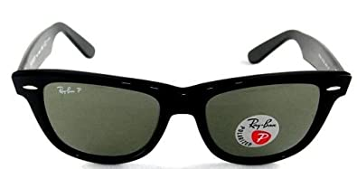 rb2140 black  Amazon.com: New Ray Ban RB2140 901/58 Wayfarer Black Frame Green ...
